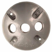 """Morris Products 36830, 4"""" Round Weatherproof Covers - Three Hole 1/2"""" Gray"""
