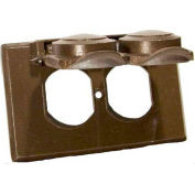 Morris Products 37014, One Gang Weatherproof Covers - Horizontal Duplex Receptacle Bronze