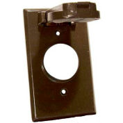 Morris Products 37114, One Gang Weatherproof Covers - Vertical Single Receptacle Bronze
