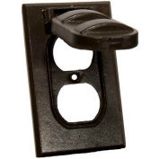 Morris Products 37124, One Gang Weatherproof Covers - Vertical Duplex Receptacle Bronze