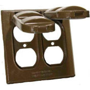 Morris Products 37214, Two Gang Weatherproof Covers - 2 Duplex Receptacles Bronze