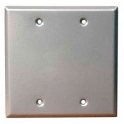 Morris Products 37260, Two Gang Weatherproof Covers - Blank Cover Gray