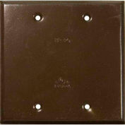 Morris Products 37264, Two Gang Weatherproof Covers - Blank Cover  Bronze