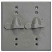 Morris Products 37291, Two Gang Weatherproof Covers - 2 Toggle Switch Cover