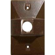 "Morris Products 37314, One Gang Weatherproof Covers - Retangular Lampholder One Hole 1/2"" Bronze"