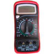 Morris Products 57040, Digital Multimeter & Temperature Probe with Rubber Holster
