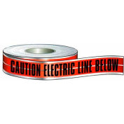 """Morris Products 69040, Detectable Tape 'Caution Buried Electric Line Below' (6"""" X 1000Ft Red)"""