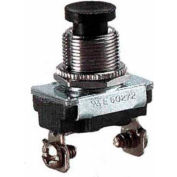Morris Products 70140, Push Button SPST Momentary Contact (On)-Off Screw Terminals