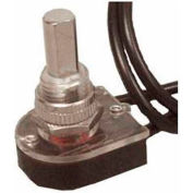 """Morris Products 70210, Nickel Push Button SPST Maintained Contact On-Off with 6"""" Leads"""