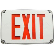Morris Products 73386, Compact Cold Weather & Wet Loc. LED, Exit Sign Battery Backup Red LED, White