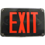 Morris Products 73387, Compact Cold Weather & Wet Loc. LED, Exit Sign Battery Backup Red LED, Black