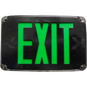 Morris Products 73389, Compact Cold Weather & Wet Loc. Green LED, Exit Sign Battery Backup, Black