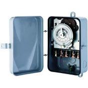 Morris Products 80462, 24 Hour Multi-Voltage Time Controls Metal Enclosure DPST 120-208-240-277V