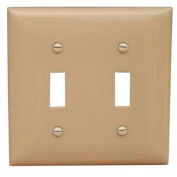 Morris Products 81020, Lexan Wall Plates 2 Gang Toggle Switch Ivory