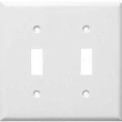 Morris Products 81021, Lexan Wall Plates 2 Gang Toggle Switch White