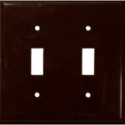 Morris Products 81022, Lexan Wall Plates 2 Gang Toggle Switch Brown
