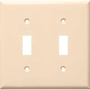 Morris Products 81023, Lexan Wall Plates 2 Gang Toggle Switch Almond