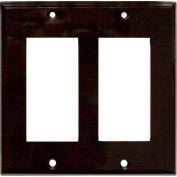 Morris Products 81122, Lexan Wall Plates 2 Gang Decorative/GFCI Brown