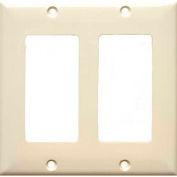 Morris Products 81123, Lexan Wall Plates 2 Gang Decorative/GFCI Almond