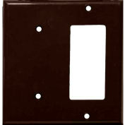 Morris Products 81222, Lexan Wall Plates 2 Gang 1 GFCI 1 Blank Brown