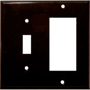 Morris Products 81242, Lexan Wall Plates 2 Gang 1 Toggle 1 GFCI Brown