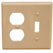 Morris Products 81290, Lexan Wall Plates 2 Gang 1 Duplex 1 Toggle Ivory