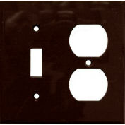 Morris Products 81292, Lexan Wall Plates 2 Gang 1 Duplex 1 Toggle Brown