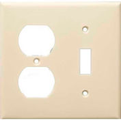 Morris Products 81293, Lexan Wall Plates 2 Gang 1 Duplex 1 Toggle Almond