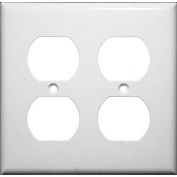 Morris Products 81421, Lexan Wall Plates 2 Gang Duplex Receptacle White