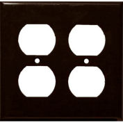 Morris Products 81422, Lexan Wall Plates 2 Gang Duplex Receptacle Brown