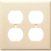 Morris Products 81423, Lexan Wall Plates 2 Gang Duplex Receptacle Almond