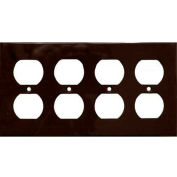 Morris Products 81442, Lexan Wall Plates 4 Gang Duplex Receptacle Brown