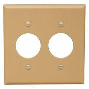 Morris Products 81620, Lexan Wall Plates 2 Gang 2 Single Receptacle 1.406 Ivory
