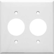 Morris Products 81621, Lexan Wall Plates 2 Gang 2 Single Receptacle 1.406 White