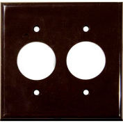 Morris Products 81622, Lexan Wall Plates 2 Gang 2 Single Receptacle 1.406 Brown