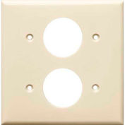 Morris Products 81623, Lexan Wall Plates 2 Gang 2 Single Receptacle 1.406 Almond