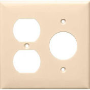 Morris Products 81688, Lexan Wall Plates 2 Gang 1 Duplex 1 Single Receptacle Almond