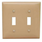 Morris Products 81750, Lexan Wall Plates 2 Gang Midsize Toggle Switch Ivory