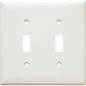 Morris Products 81751, Lexan Wall Plates 2 Gang Midsize Toggle Switch White
