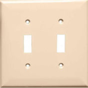 Morris Products 81753, Lexan Wall Plates 2 Gang Midsize Toggle Switch Almond