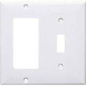 Morris Products 81791, Lexan Wall Plates 2 Gang Midsize Toggle & Decorative/GFCI Wallplates White