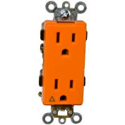 Morris Products 81914, Isolated Ground Decorative Duplex Receptacle Orange 15A-125V