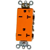 Morris Products 81929, Isolated Ground Decorative Duplex Receptacle Orange 20A-250V