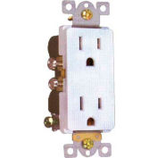 Morris Products 82016, Decorative Duplex Receptacle White 15A-125V