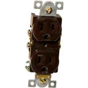 Morris Products 82142, Commercial Duplex Receptacle 15A 125V Brown