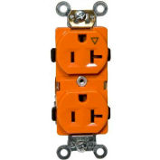 Morris Products 82164, Isolated Ground Duplex Receptacle Orange 20A-125V