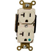 Morris Products 82170, Hospital Grade Duplex Receptacle Ivory 20A-125V