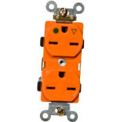 Morris Products 82233, Isolated Ground Duplex Receptacle Orange 15A-250V