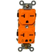 Morris Products 82238, Isolated Ground Duplex Receptacle Orange 20A-250V