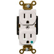 Morris Products 82251, Hospital Grade Duplex Receptacle White 15A-125V